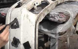 Как провести ремонт пластикового бампера своими руками: все методы восстановления