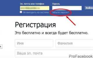 Гарантия доступа к аккаунту Facebook при «проблемах памяти»