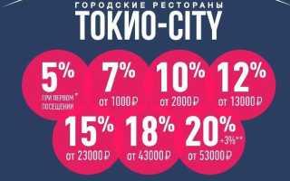 Особенности дисконтной карты «Токио сити», какие скидки есть по карте