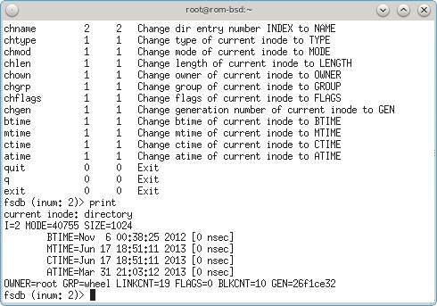 Аналог debugfs в FreeBSD